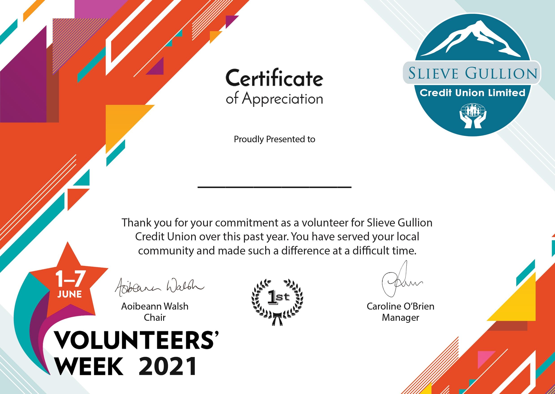 Volunteers' Week 2021 (June 2021)